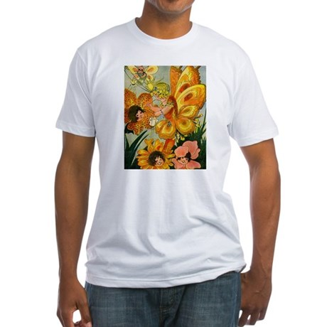 Flower Folk Fitted T-Shirt