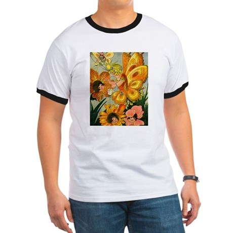 Flower Folk Ringer T