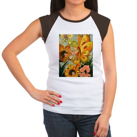 Flower Folk Women's Cap Sleeve T-Shirt