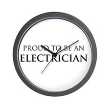 Proud Electrician Wall Clock