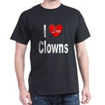 I Love Clowns (Front) Black T-Shirt