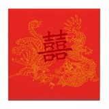 Chinese Wedding Gifts Tile Coaster
