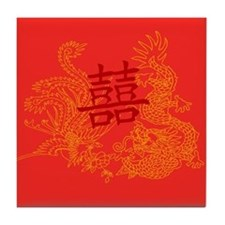 Chinese Wedding Gifts Tile Coaster