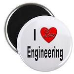 I Love Engineering Magnet