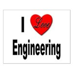 I Love Engineering Small Poster