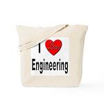 I Love Engineering Tote Bag