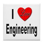 I Love Engineering Tile Coaster