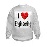 I Love Engineering (Front) Kids Sweatshirt