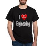 I Love Engineering (Front) Black T-Shirt