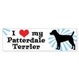 I Love My Patterdale Terrier Bumper Bumper Sticker