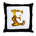 Blown Gold E Throw Pillow