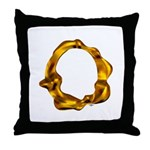 Blown Gold O Throw Pillow