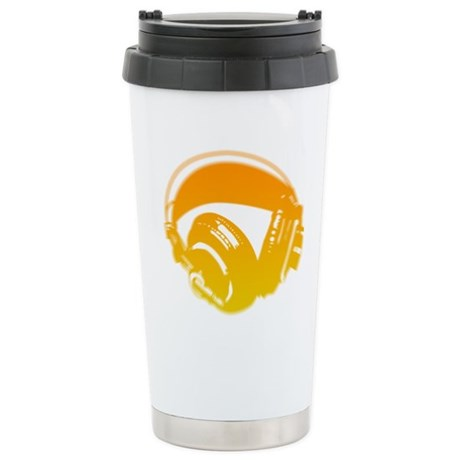 DJ Headphones Ceramic Travel Mug