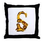 Blown Gold S Throw Pillow
