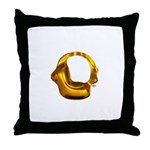 Blown Gold 0 Throw Pillow