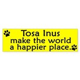 Happy Place Tosa Inu Bumper Bumper Sticker