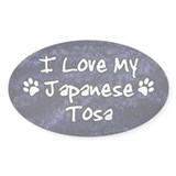 Funky Love Japanese Tosa Oval Decal