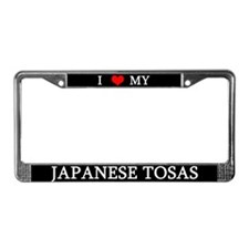 Love Japanese Tosas License Plate Frame