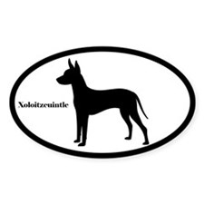 Xoloitzcuintle Silhouette Oval Decal