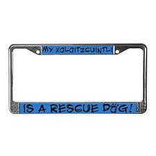 Rescue Dog Xoloitzcuintli License Plate Frame