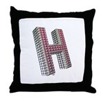 Glamor Brooch H Throw Pillow