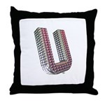 Glamor Brooch U Throw Pillow