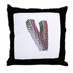 Glamor Brooch V Throw Pillow