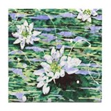 Water Lilies 1 Tile Coaster