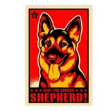 Obey the German Shepherd! Postcards (Pack of 8)