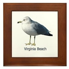 Virginia Beach Gull Framed Tile