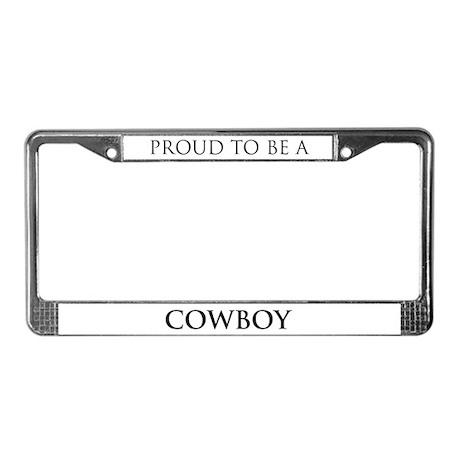 Proud Cowboy License Plate Frame