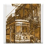New Orleans Streetcar Named D Tile Coaster