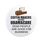 """NOBamaCare - Anti Obama Healt 3.5"""" Button (10"""