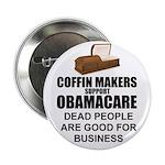 """NOBamaCare - Anti Obama Healt 2.25"""" Button (1"""