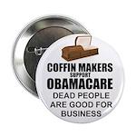 """NOBamaCare - Anti Obama Healt 2.25"""" Button"""