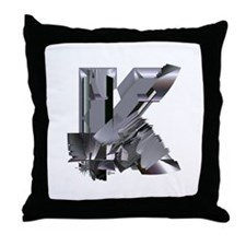 Heavy Metal K Throw Pillow