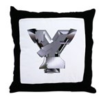 Heavy Metal Y Throw Pillow