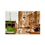 New Orleans Streetcar Named D Rectangle Magnet (10