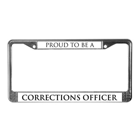 Proud Corrections Officer License Plate Frame