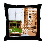 New Orleans Streetcar Named D Throw Pillow