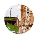 New Orleans Streetcar Named D Ornament (Round)