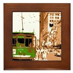 New Orleans Streetcar Named D Framed Tile