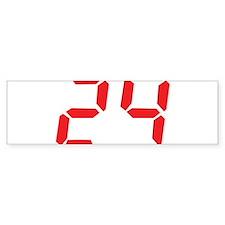 24 twenty-four red alarm cloc Bumper Sticker