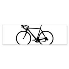 Racer Bicycle black Bumper Sticker (10 pk)