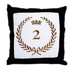 Napoleon gold number 2 Throw Pillow