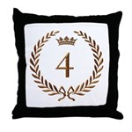 Napoleon gold number 4 Throw Pillow
