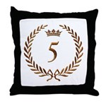 Napoleon gold number 5 Throw Pillow