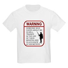 Warning Someone Cares 800 Kids T-Shirt