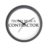 Proud Contractor Wall Clock