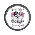 grandma of twins Wall Clock